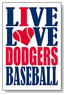 Live Love I Heart Dodgers Baseball lined journal - any occasion gift idea for Los Angeles Dodgers fans from WriteDrawDesign.com