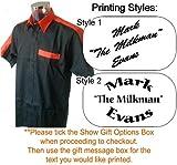 Personalised Printed Dart Shirt - Black/Orange, Printing Style 1, Medium