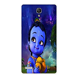 Ajay Enterprises Small Littel Kishna Back Case Cover for Redmi Note Prime