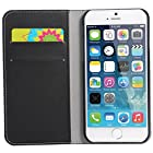Iphone 6 Cover Case, WAWO PU Leather Wallet Flip Protective Cover for Apple Iphone 6 4.7 (Black)