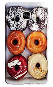 Omnam Donuts With Different Flavour Printed Designer Back Case For Samsung Galaxy C7