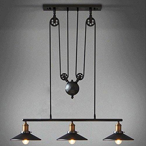 LINA-Il ricostruito per sollevare il rullo lampadari villaggio americano la compenetrazione lampadari in ferro 3testa Ristorante