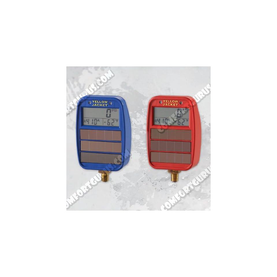 Yellow Jacket 49042 Lo Side Solar/Light Powered Digital LCD Gauges