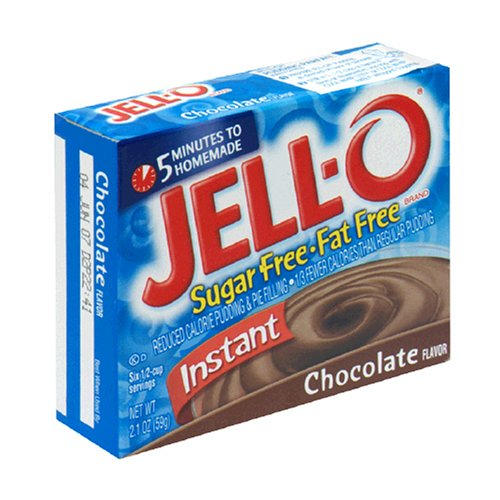 Buy Jell-O Sugar-Free Instant Pudding & Pie Filling, Chocolate, 2.1-Ounce Boxes (Pack of 24) (JELL-O, Health & Personal Care, Products, Food & Snacks, Baking Supplies, Pie & Cobbler Fillings)