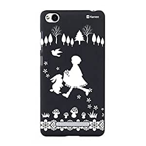 Customizable Hamee Original Designer Cover Thin Fit Crystal Clear Plastic Hard Back Case for Xiaomi Mi 4i / Mi4i (Girl and Rabbit)