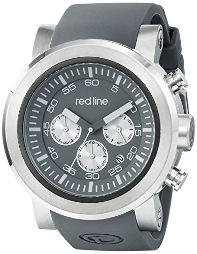 Red Line 50050-014-WA 50mm Stainless Steel Case Grey Rubber Mineral Men's Watch