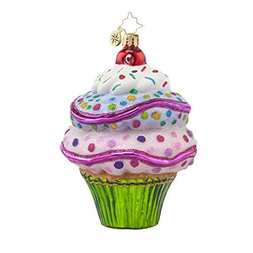 Christopher Radko Sugar Rush Cup Cake Glass Christmas Ornament