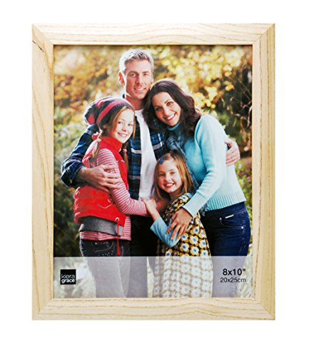 Kiera Grace Turner Wood Grain Picture Frame, 8  by  10 Inch, Oak (8x10 Wood Picture Frame compare prices)