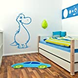 Cute Dinosaur Modern Wall Transfer / Removable Wall Graphic Interior Decor bn65