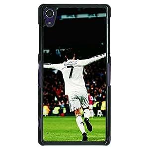 Jugaaduu Cristiano Ronaldo Real Madrid Back Cover Case For Sony Xperia Z1