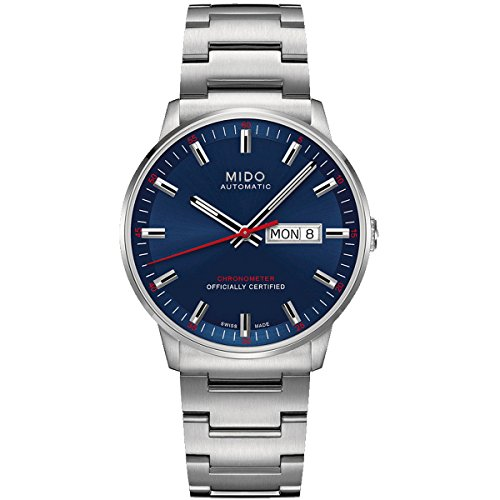 mido-montre-de-bracelet-commander-ii-automatique-analogique-en-acier-inoxydable-m0214311104100