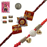 Little India Sending To Brother Online Designer Rakhi Gifts Rakhi Raksha Bandhan Gift Band Moli Bracelet Wristband...