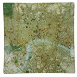 Square London Map Decoupage Tray