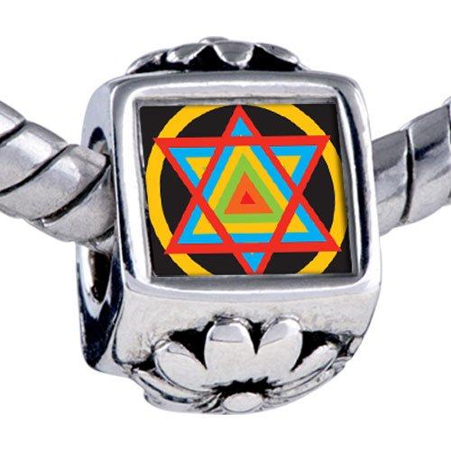 Pugster Bead Multicolored Star David Beads Fits Pandora Bracelet