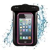 Waterproof Case Dry Bag Pouch for Samsung Galaxy S4 Mini / iPhone 5s 5c 5 4s / Nokia Lumia 520 521 / Nokia Lumia 530 / Nokia X / Moto E 4GB (Pink/Black)