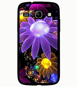ColourCraft Lovely Flowers Design Back Case Cover for SAMSUNG GALAXY CORE I8262 / I8260