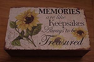 Sunflower Memory Box Memories are like Keepsakes Always to be Treasured Sunflower sg1737
