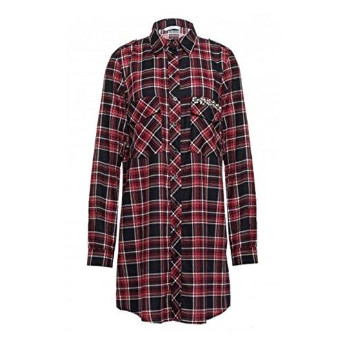 Liu-Jo abito camicia lunga a quadri