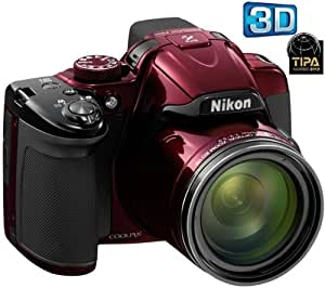 NIKON P520 - red + SDHC Extreme III 8 GB memory card + Case - Size M