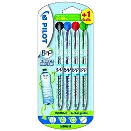 Pilot Pen B2P - Bolígrafo de gel (4 unidades)