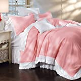 Pink Blush Royal Lace Duvet Bedding
