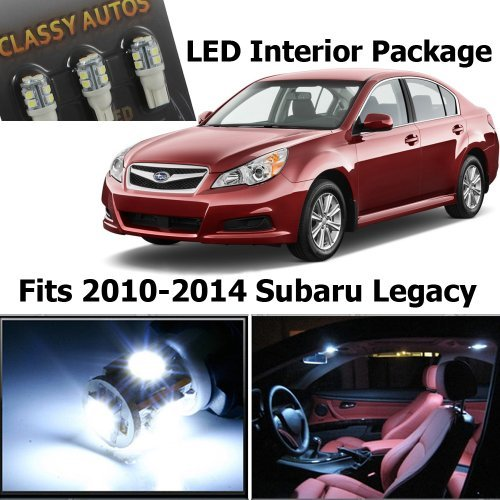Classy Autos White Led Lights Interior Package For Subaru Legacy (6 Pieces)