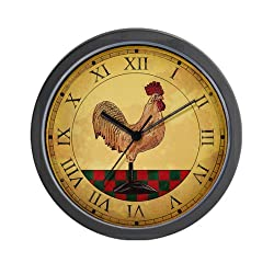 CafePress Country Rooster Clock Wall Clock