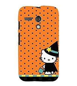 Orange Dots Girly Cute Fashion 3D Hard Polycarbonate Designer Back Case Cover for Motorola Moto G :: Motorola Moto G (1St Gen)