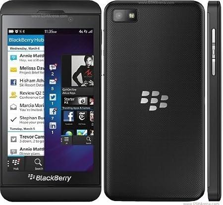 """BlackBerry Z10 4G LTE -STL100-2 Orange Débloqués (écran tactile 4.2 """", appareil photo 8 mégapixels, 16 Go, BlackBerry OS 10), Noir"""