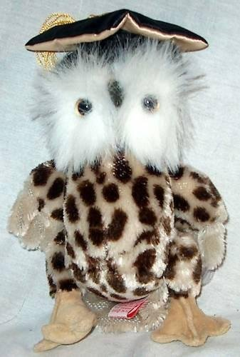 TY Attic Treasure - SOCRATES the Owl (8.5 inch)