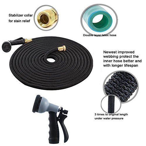 Charm-sonic-50ft-Expanding-HoseStrongest-Expandable-Garden-Hose-Double-Latex-Core-Solid-Brass-Connector-with8-Pattern-Spray-Nozzle