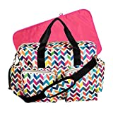 Trend Lab Chevron Deluxe Duffle Diaper Bag, Chevron
