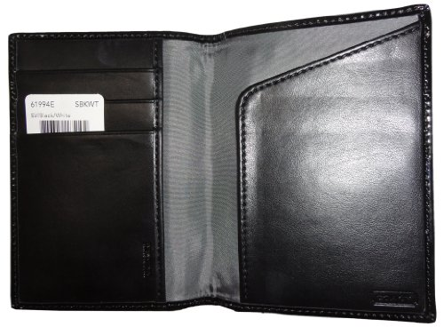 Coach   Coach Signature Passport Case Wallet Black/White
