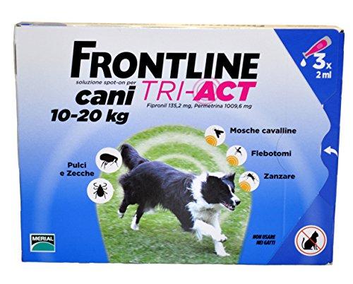FRONTLINE TRI ACT 10-20 Kg - Antiparassitario per cani di taglia media