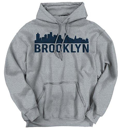 Brooklyn City Skyline Silhouette Urban NYC Fashion Novelty Tee Hoodie Sweatshirt