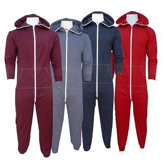 Mens soul star all in one sleep suit onesie medium 38 for Mens dress shirt onesie