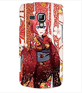ColourCraft Beautiful Girl Design Back Case Cover for SAMSUNG GALAXY S DUOS 2 S7582