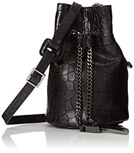 Halston Heritage Mini Bucket Cross Body Bag, Black, One Size