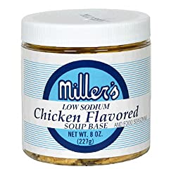 Miller's Low-Sodium Chicken Flavored Base, 8-Ounce Packs (Pack of 6)