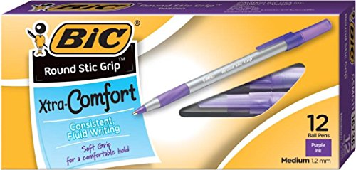 ultra-round-stic-grip-ballpoint-stick-pen-purple-ink-medium-dozen