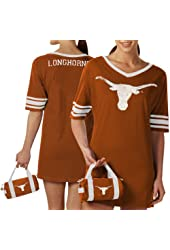 NCAA Texas Longhorns Ladies Burnt Orange Nightgown & Mini Duffel Bag