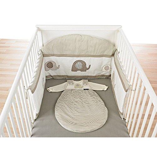 Alvi-Nestchen-mit-Bogen-fr-Kinderbett-DesignElefant-beige-323-6