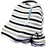 BUNDLE: Mom & Moppet - Premium Stretchy 4 In 1 Baby Car Seat Canopy | Nursing Cover, Pacifier And Pacifier Holder...