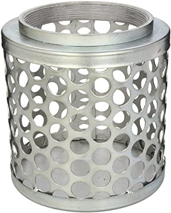 PT Coupling Carbon Steel  Round Hole Pump Suction Strainer, 6""