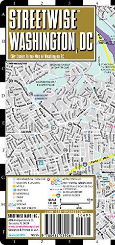 Streetwise Washington, DC Map - Laminated City Street Map of Washington, DC: Folding Pocket Size Travel Map