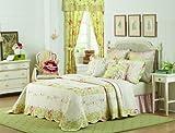 Prairie Bloom Queen Quilted Bedspread