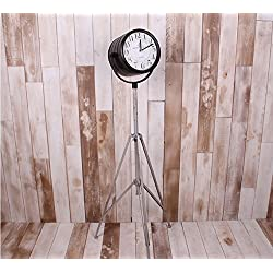 BRACK American Industrial style, wrought iron tripod, floor clocks, crafts, home, living room decoration stand bell, clock 270*180*120MM DIEO