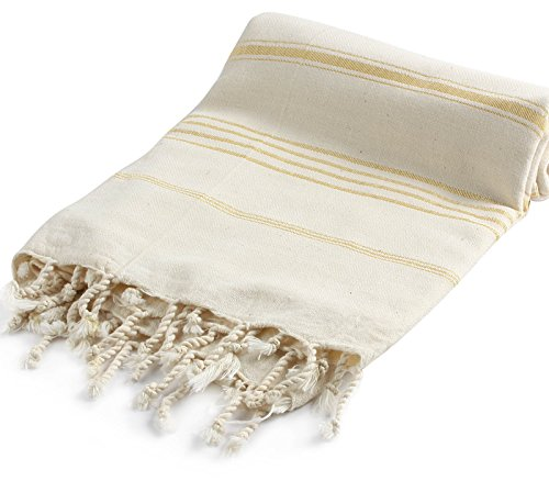 Pestemal Turkish Bath Towels 37x70 %100 CottonTM by Cacala Natural Gold (Pic Nic Towel compare prices)