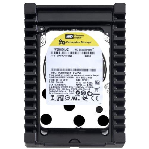 Western Digital VelociRaptor 600GB SATA II 10,000 RPM 32MB Cache 3.5 inch Internal Hard Drive  &  Mounting Plate - OEM