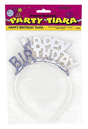 Unique Industries Prismatic Happy Birthday Tiara (1 Pack)